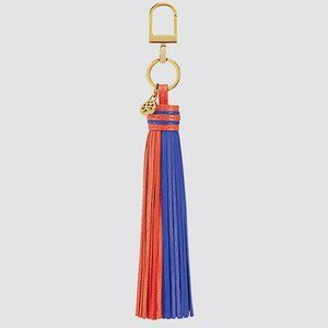 NEW Tory Burch Tassel Fob Samba/Navy